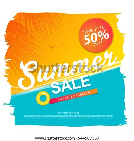 Summer Sale Template Banner Stock Vector 434979160 - Shutterstock