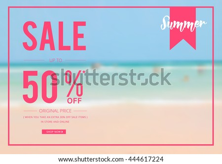 summer sale template banner poster designed stock vector royalty