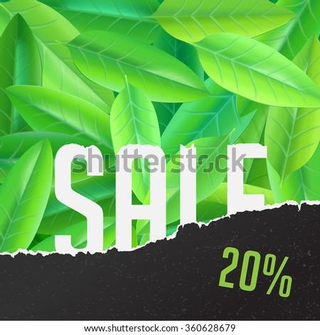 summer sale vector flyer conceptual illustration - stock vector