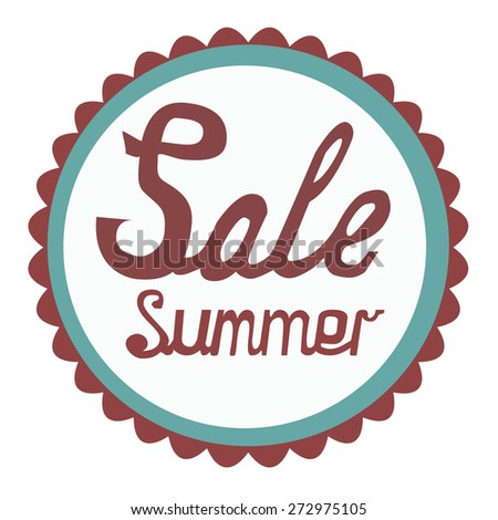 Summer sale vintage badge