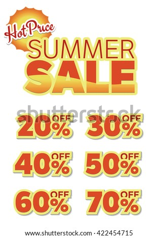 Summer sale with big discount  - stock vector