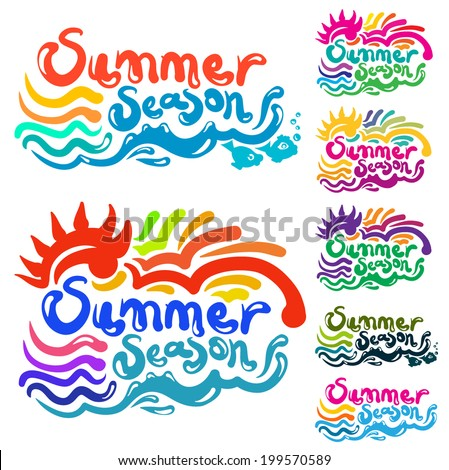 Summer Season - stock vector