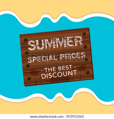summer special price sale design. - stock vector