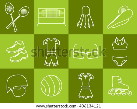Summer sport set - stock vector