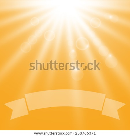 summer sun light burst - stock vector