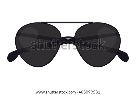 Summer sun protection fashion sunglasses realistic icons set isolated vector illustration. Fashion sunglasses and stylish summer accessory sunglasses. Summer sunglasses lens wear protection eye. - stock vector