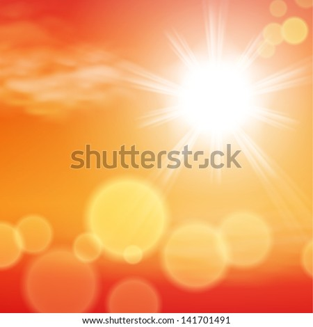 Summer sunset background. EPS10 vector. - stock vector