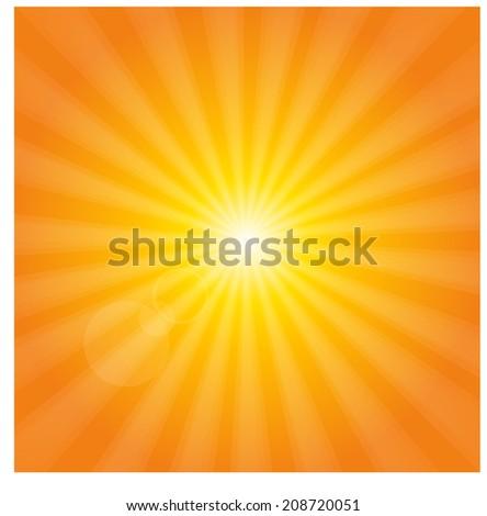 summer sunshine background - stock vector