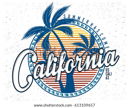 Summer Tshirt Graphic Stock Vector 613109657 - Shutterstock