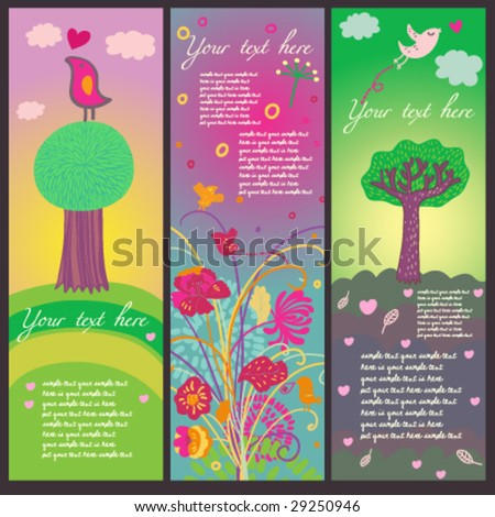 Summer tags in vector - stock vector