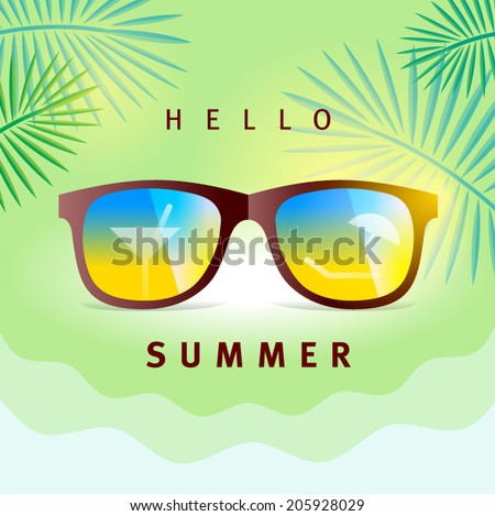 Summer time element - stock vector