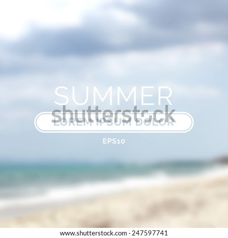 Summer time retro defocused old background banner for tourism advertising. Vector illustration - stock vector