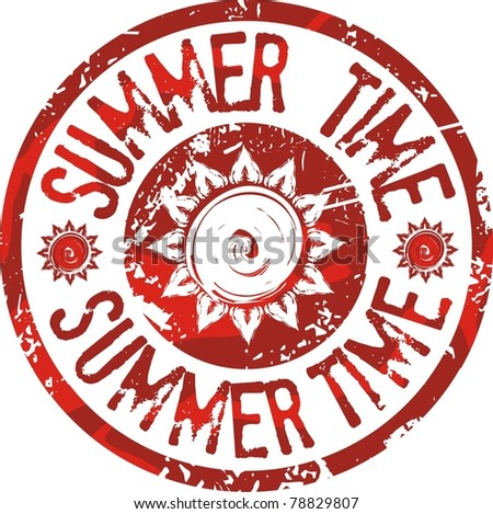 Summer time stamp - stock vector