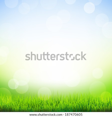Summer Time Wallpaper, With Gradient Mesh, Vector Illustration - stock vector