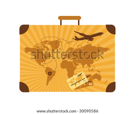 Summer travel, suitcase