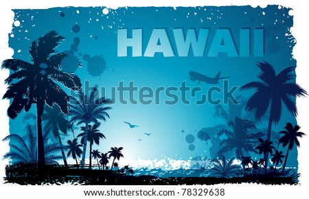 Summer tropical background - stock vector