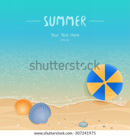 Summer tropical background with place for your text - stock vector