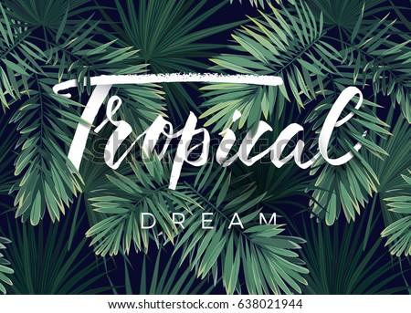 summer tropical vector design banner flyer stock vector