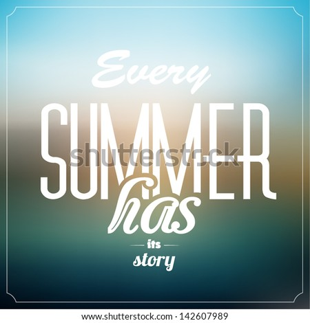 Summer Typographic Abstract Background - stock vector