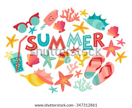 summer vector art summertime card cartoon stock vector 347312861 rh shutterstock com summer vector art summer vector free