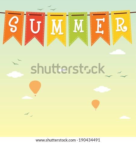 Summer. Vector background - stock vector