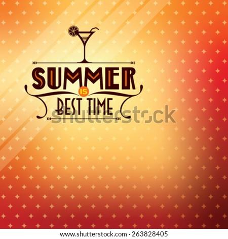 Summer Vector background - stock vector