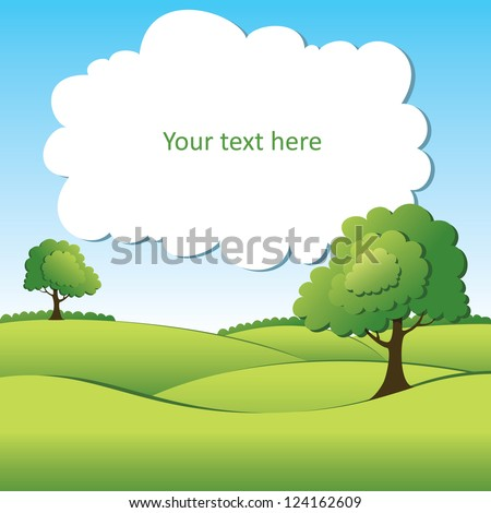 Summer vector landscape - stock vector