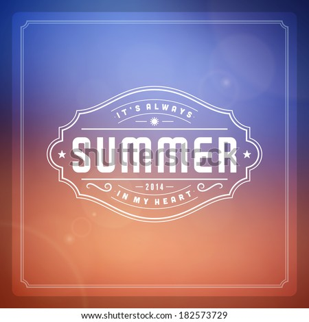 Summer vector typography. Summer holidays message design vector background.  - stock vector
