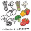 Summer Vegetable Icons 2 Vector icon collection of vegetable related images. Fully editable layers included - stock vector