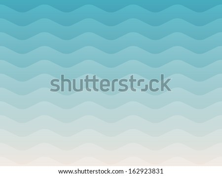 Summer Wave background - stock vector
