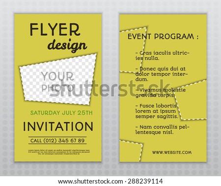 Summer yellow stylish flyer brochure invitation stock vector summer yellow stylish flyer and brochure invitation template with unusual design corporate identity isolated stopboris Gallery