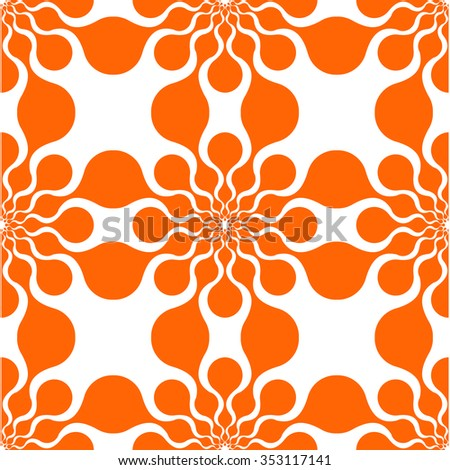Summery texture. Seamless pattern. Vector background. Warm color. Pattern of circles. Seamless pattern. Seamless backdrop. Seamless abstract pattern. Seamless background. Seamless orange background.  - stock vector