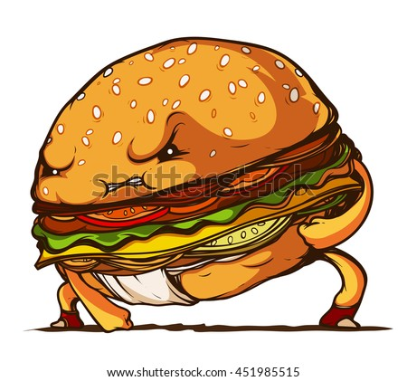 Sumo Hamburger isolated