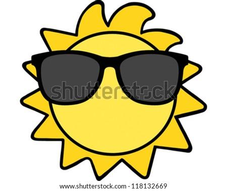 Sun - stock vector