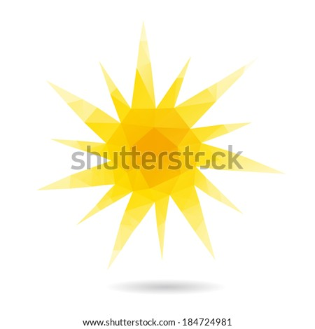 Sun abstract isolated on a white backgrounds, vector illustration - stock vector