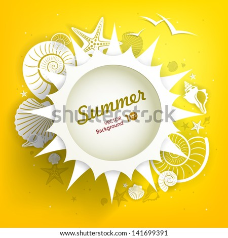 Sun. Abstract summer background. Vector eps 10. - stock vector