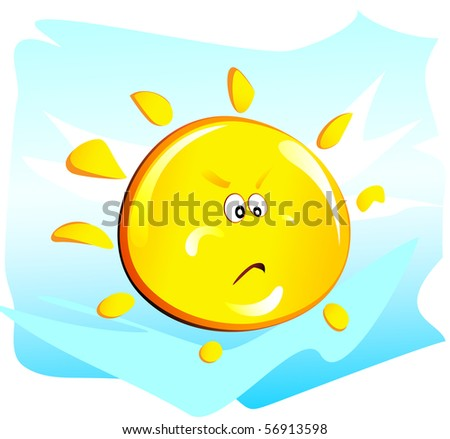 Angry sun stock photos illustrations and vector art
