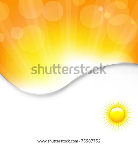 Sun Background, Vector Illustration - stock vector