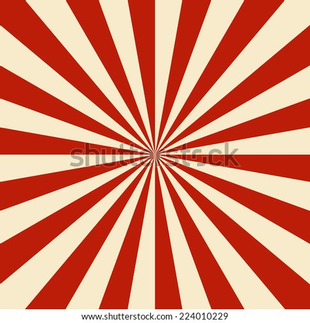 sun burst background red vintage - stock vector