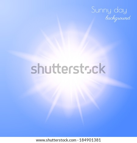 Sun burst. Vector eps10. - stock vector