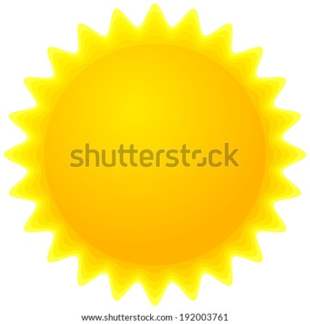 Sun Clipart Sun Icon Stock Vector 192003761 - Shutterstock