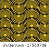 sun disks - seamless pattern - stock vector