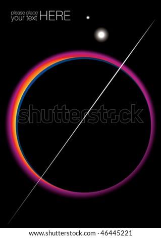 Sun eclipse, vector illustration - stock vector