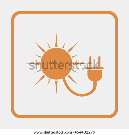 Sun energy Icon. - stock vector