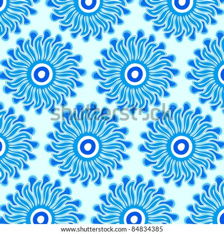 sun flower pattern - stock vector