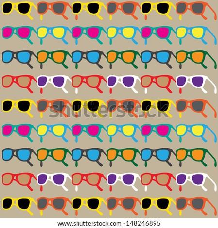 Sun Glasses Pattern - stock vector