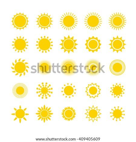 Sun icon set. Sun burst star logo icon. Sun star, summer, nature, sky, summer. Sunshine sun logo. Sun icon. Sun logo. Star vector icon logo. Sun silhouette. Sun isolated vector logo, sun logo - stock vector