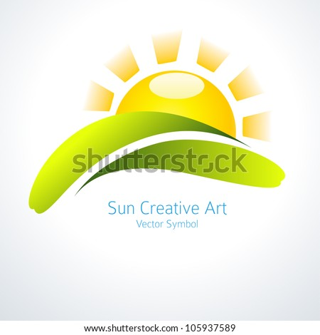 Sun Icon Vector Creative Design - stock vector