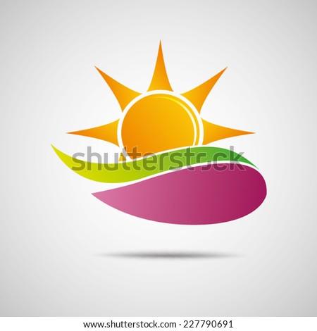 Sun Icon Vector Creative Design  - stock vector