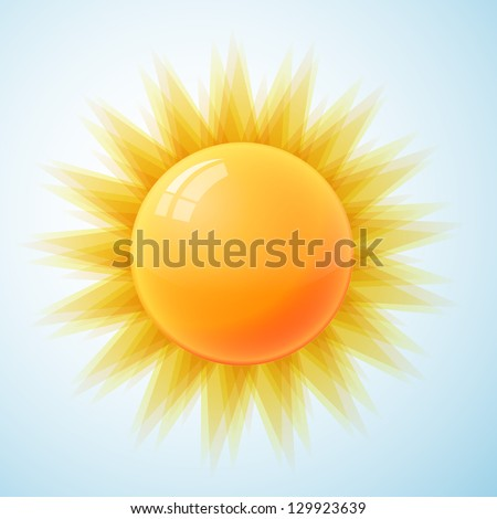 Sun isolated - stock vector